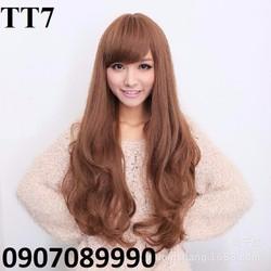 tóc giả mái xéo đuôi uốn nữ tính TT7