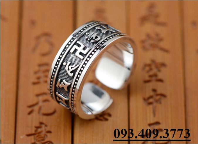 Nhẫn Khắc Thần Chú Om Mani Padme Hum Tây Tạng -NH153 2