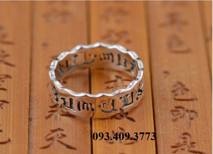 Nhẫn Khắc Thần Chú Om Mani Padme Hum Tây Tạng -NH154 2