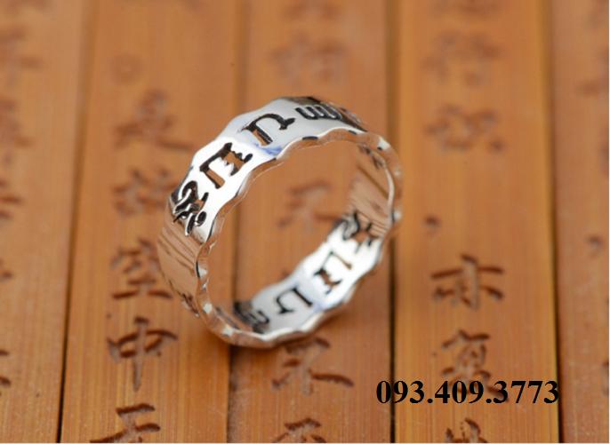 Nhẫn Khắc Thần Chú Om Mani Padme Hum Tây Tạng -NH154 5