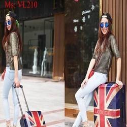 Vali kéo du lịch hình lá cờ Anh phong cách sành điệu VL210