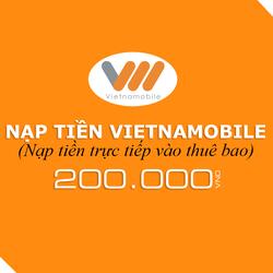 Nạp tiền Vietnamobile 200.000đ