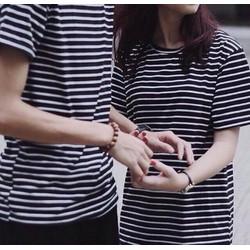Áo sọc đen trắng cotton  mềm mại