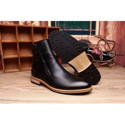 Giày boots nam đế gỗ