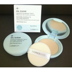 phấn nén The Face Shop Oil Clear Smooth and Bright Pact