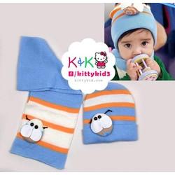 Bộ  khăn mũ len cho bé