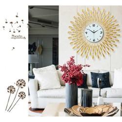 Đồng hồ trang trí mặt trời Vàng sang trọng