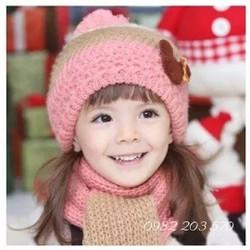Bộ khăn và mũ len cho bé