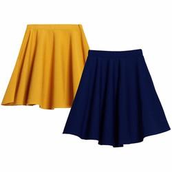 Bộ 2 Chân váy xòe xếp ly trên gối cao cấp MIXX 2CHAN VAY 007 Y N