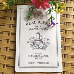 SAMPLE DẦU TẨY TRANG THE FACE SHOP REAL BLEND RICH CLEANSING OIL