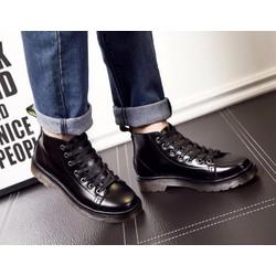 Giày boots nam da bóng lửng