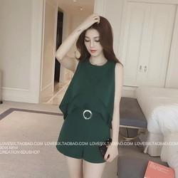 set quần short áo sn bèo xéo