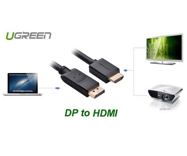 Cáp Displayport to HDMI 3m chính hãng Ugreen UG-10203 1