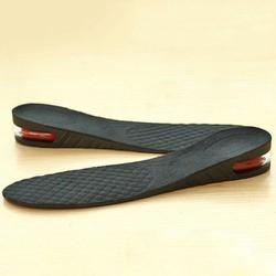 Lót giày tăng chiều cao không khí nguyên bàn 1 lớp cao 3 cm Màu Đen