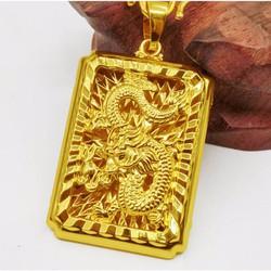 Mặt dây chuyền thẻ bài rồng vàng 18k- DC234