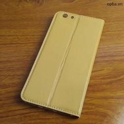 Bao da IONE Oppo F1S 100 da thật made in vietnam màu gold