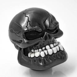 Phụ Kiện Xe Hơi Cần Gạt Số Hình Đầu Lâu Skull Đen