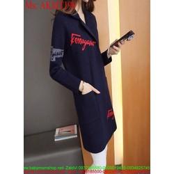 Áo khoác dạ thu đông dài tay fera phong cách sành điệu AKMT198