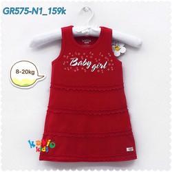 Áo đầm sát nách in hình chữ Baby Girl