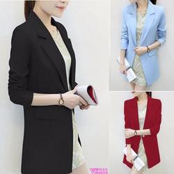 Áo khoác nữ Blazer form dài sành điệu HK111