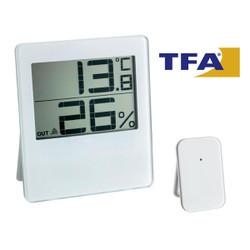 Nhiệt ẩm kế điện tử trong nhà và ngoài trời không dây