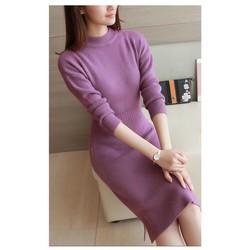 Đầm len ôm thanh lịch - Hàng nhập Quảng Châu