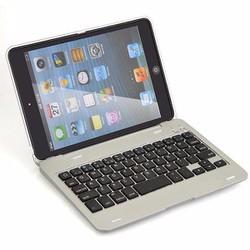 Bàn phím Bluetooth ốp lưng ipad mini 4 phụ kiện cho bạn Bạc