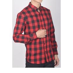 áo sơ mi nam caro đỏ đen SM003