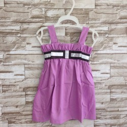 Đầm vải kate mềm phối ruy băng - VD62 [25-40kg]