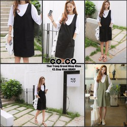 Váy quây vải thô Hàn Quốc