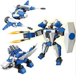 Bộ lắp ghép Robot - Khủng long bay - Máy bay gồm 170 miếng