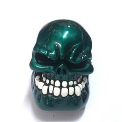 Phụ Kiện Xe Hơi Cần Gạt Số Hình Đầu Lâu Skull Xanh