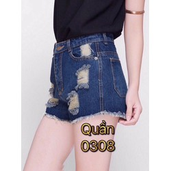 Quần short jean nữ 0308