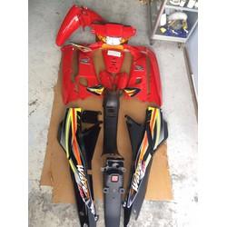 Dàn áo xe Wave 110 màu Đỏ phối Đen
