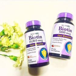 Viên ngậm Biotin 250 viên của Mỹ kích thích mọc tóc , ngăn rụng tóc