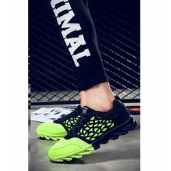 giày sneaker đế xoắn phối màu Mã: GH0397 - XANH LÁ