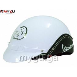 Mũ bảo hiểm cao cấp Vespa TP74V - Màu trắng
