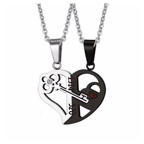 Dây chuyền cặp đôi trái tim chìa khóa màu đen 1314-520 mẫu MC205 - 4075751 , 4166040 , 15_4166040 , 175000 , Day-chuyen-cap-doi-trai-tim-chia-khoa-mau-den-1314-520-mau-MC205-15_4166040 , sendo.vn , Dây chuyền cặp đôi trái tim chìa khóa màu đen 1314-520 mẫu MC205