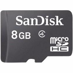 Thẻ nhớ Sandisk MicroSDHC class 4 8GB Đen