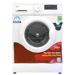 Máy giặt Lồng ngang MIDEA MFG70-1000 7kg Trắng