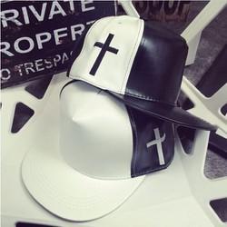 Mũ Hàn quốc G Dragon mũ phối màu đen trắng mũ hiphop mũ bóng chày