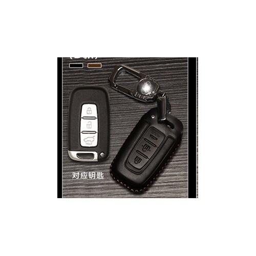 Bao da bọc chìa khóa ô tô Hyundai mẫu D