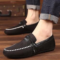 Giày lười mọi hàn quốc đen hot 2017
