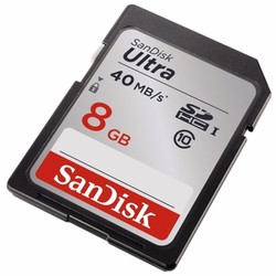 Thẻ nhớ 8GB SDHC SANDISK ULTRA 40mbs CLASS 10.TSDU811460X