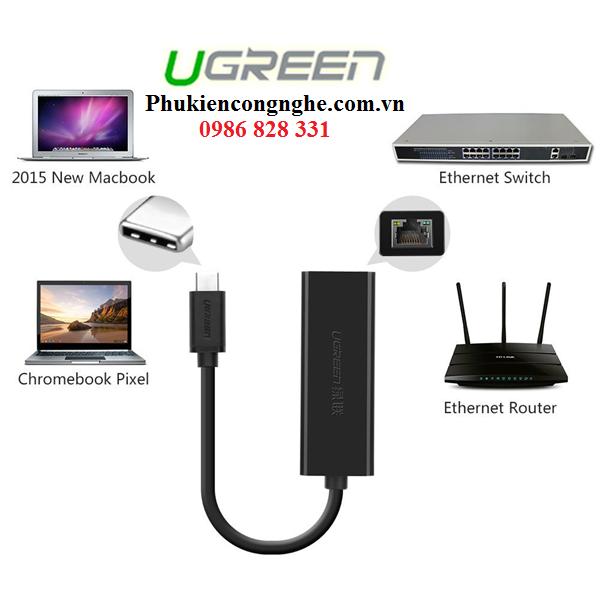 Cáp USB Type-C to Lan RJ45 Ethernet chính hãng Ugreen UG-30287 3