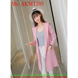 Áo khoác nữ thu đông có nón form dài xinh đẹp thời trang AKMT205