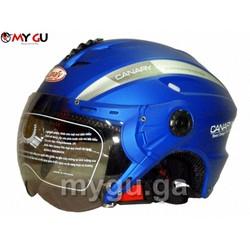 Mũ bảo hiểm cao cấp Canary TP76K - Xanh thái nhám - Size L