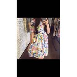 Đầm babydoll hoa.