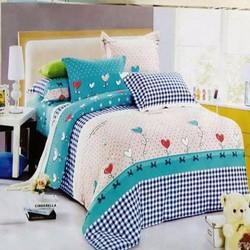 Bộ ga giường cotton cây tim