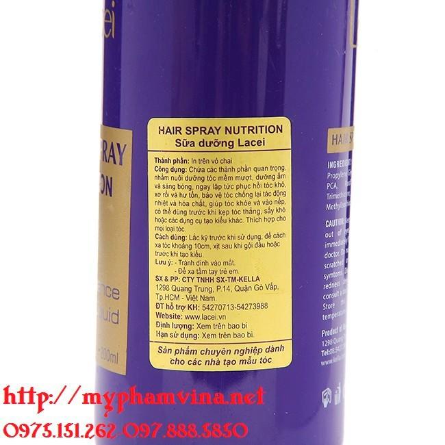 Sữa Dưỡng Lacei Hair Spray Nutrition 200ml 1